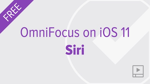Using OmniFocus with Siri on iOS 11