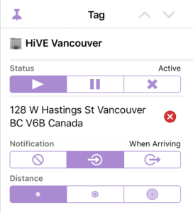 HiVE Vancouver Tag