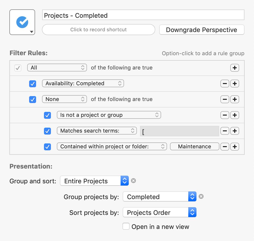 Custom Perspectives for OmniFocus 3 - Learn OmniFocus
