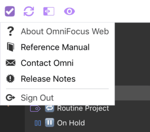 OmniFocus for the Web - Contact Omni