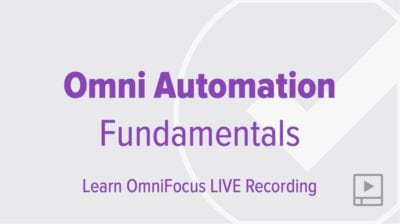 Automating OmniFocus with Omni Automation: Fundamentals