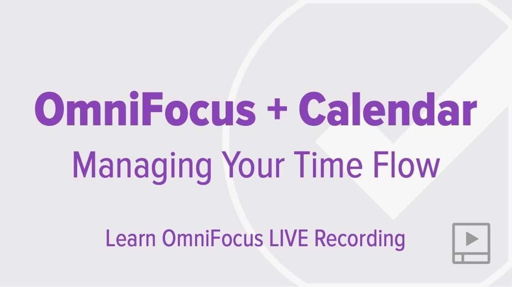 OmniFocus and the Calendar